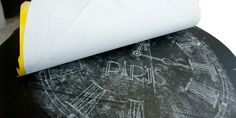 Chalk Stencil Transfer Onto Furniture … A Timely Technique