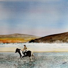 Drumnatinney Strand, near Falcarragh, County Donegal. Ireland. Watercolour