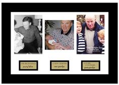 A great grandpa gift idea that shows how he has welcomed each new generation. From father, to grandfather to great-grandfather!