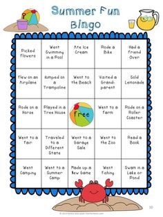 Back to School Bingo {Summer Fun} + Bonus Math & Writing Activities! Perfect for the first day of school, this product is packed full of fun! First you can have fun playing bingo while learning about what all of your friends did over the summer. Then you can see if you can fill up your chart with friends initial next to the activities they did over the summer.
