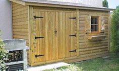 Every thought about how to house those extra items and de-clutter the garden? Building a shed is a popular solution for creating storage space outside the house. Whether you are thinking about having a go and building a shed yourself Patio Steps, Concrete Patios, Outdoor Garden Sheds, Garden Huts, Outside Storage, Lean To, She Sheds, Shed Design, Garden Types
