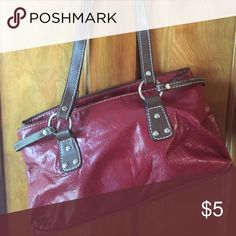 Red / Burgandy purse Used but has life left in it. Bags Satchels