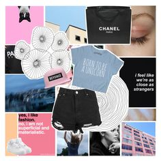 """""""we can't fix what's broken"""" by untake-n ❤ liked on Polyvore featuring Chanel, Cyan Design, Boohoo, NIKE, accountgoals and gottatagrandomn3ss"""