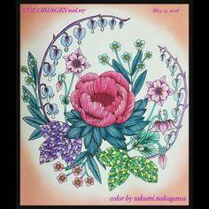 Instagram media icekureem - Married 22 anniversary  今日5/15は、結婚22周年なので、シャクヤクを塗りました  #塗り絵で被災地を励ましたい #WILDFLOWERS #mariatrolle @maria_trolle #adultcoloringbook #coloring  #コロリアージュ#野の花のぬり絵ブック #マリアトロッレ #ワイルドフラワー#大人の塗り絵 #wildflowersicekureem