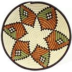 African Basket - Rwanda Sisal Coil Weave Bowl - 12 Inches Across - #42253