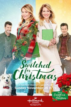 "Its a Wonderful Movie - Your Guide to Family and Christmas Movies on TV: Switched for Christmas - a Hallmark Channel Original ""Countdown to Christmas"" Movie starring Candace Cameron Bure! Películas Hallmark, Films Hallmark, Hallmark Holiday Movies, Christmas Movies On Tv, Hallmark Channel, Disney Channel, Christmas 2017, Christmas Lunch, Christmas Poster"