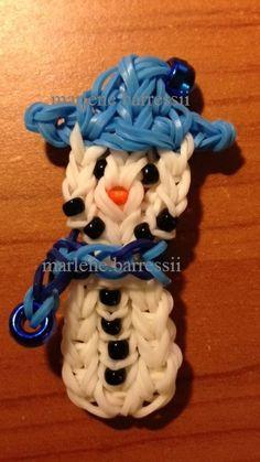 Snowman Rainbow Loom - Now on YouTube on MarloomZ Creations