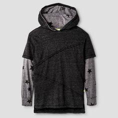 Kind is Cool Boys' Hooded Sweatshirt Black : Target