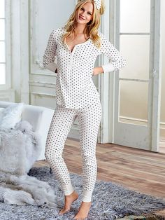 The Fireside Long Jane Pajama (either this print, or light punk stripe, or all black) depends how comfortable it is Cute Sleepwear, Lingerie Sleepwear, Nightwear, Cute Pajamas, Pajamas Women, Pyjamas, Pjs, Night Suit For Girl, Cosy Outfit