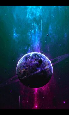 Awesome!!!:-) Planet painting inspiration. Look at those amazing colors! Teal, purple and magenta.