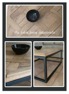 1000 images about diy deco industrielle on pinterest industrial side table tvs and consoles. Black Bedroom Furniture Sets. Home Design Ideas