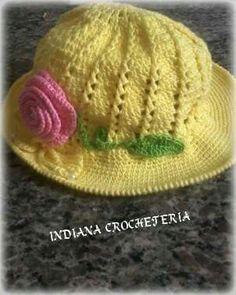 Chapéu infantil!!  Lindo ❤ Aceitamos encomendas  Instagram Indiana_crocheteria  Página no Facebook indianacrocheteria @indianacrocheemgeral
