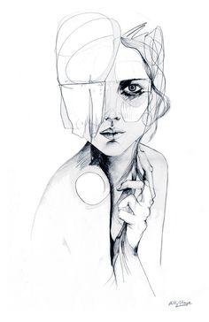 Sketch V / / Bleistift Zeichnung / / A5 drucken