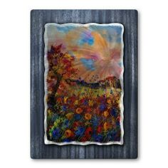All My Walls POL00461 Bright Flowers by All My Walls. $327.00. Add a touch of class to your home decor with our extensive line of metal wall art pieces featuring Belgium artist Pol Ledent's watercolor and oil paintings. These metal wall hangings consist of torch-cut 18-gauge steel layers, stud construction, and one-of-a-kind hand-sanding, which creates a three dimensional visual effect that is comparable to a hologram. With over 500 paintings to choose from&#...
