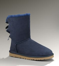 Ugg Womens Bailey Bow Navy - UGGs Outlet With Elegant Design, Free Shipping, Free Tax, Door to door delivery