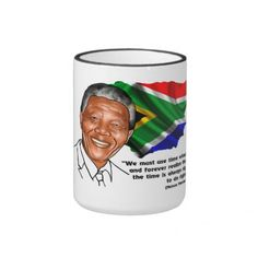 Mandela Quote Caricature Mug