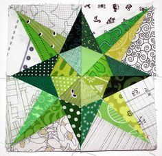 simple star finished block