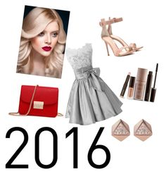 """#2016"" by luciarakoczyova on Polyvore featuring Gianvito Rossi, Laura Mercier and FOSSIL"