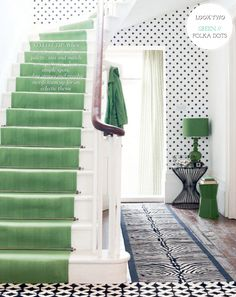 Emerald green & polka dots via Pick a Scheme: Two Colours / Two Rooms – Bright.Bazaar