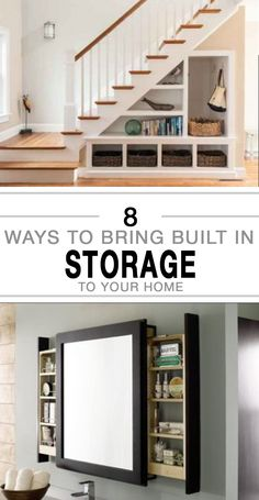 Get more storage for your home with these great built in storage ideas