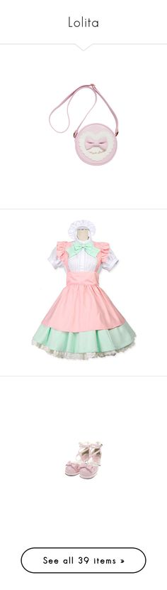 """""""Lolita"""" by moonlight-princess-of-the-stars ❤ liked on Polyvore featuring bags, accessories, lolita, accessories - bags, costumes, dresses, pink costume, pink lady halloween costume, womens costumes and cosplay halloween costumes"""