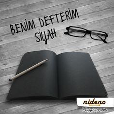 Siyah tutkunları; sizleri de unutmadık, siyah sayfalı #Nideno defterler tasarladık. Hemen inceleyin: http://bit.ly/NidenoSiyahSayfalıDefter