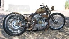 2001 sportster converted into a rat