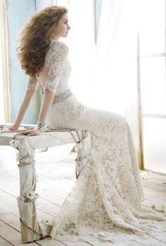 Love all the lace details! #wedding #detail #lace #vintage