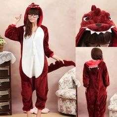 PajamasBuy - Animal unisex Adult Darkred Dinosaur Onesies Hoodie kigurumi Pajamas, $24.00 (http://www.pajamasbuy.com/animal-unisex-adult-darkred-dinosaur-onesies-hoodie-kigurumi-pajamas/)