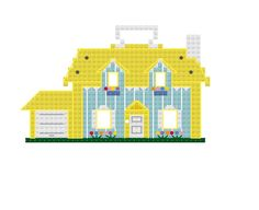 Vintage Fisher Price House Cross Stitch Pattern by The8bitGeekery, $2.99