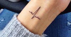 EKG on my side! More The post EKG on my side! … appeared first on Woman Casual - Tattoos And Body Art Little Tattoos, Mini Tattoos, Sexy Tattoos, Cute Tattoos, Body Art Tattoos, Small Tattoos, Tattoos For Women, Tatoos, Wrist Tattoos Girls