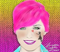 Pink Bansky #banksy  #sun_art_heart #portrait #instaart #artwork #myart #contemporaryart #artistic #doodle #sketch #art #sketchbook #abstract #abstractart #abstracters_anonymous #abstract_buff #modernart #geometric #abstraction #design #uranart #artist #colorful #fineart #digitalart #illustration