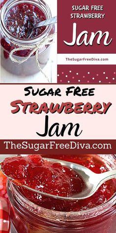 Stevia Recipes, Jam Recipes, Canning Recipes, Real Food Recipes, Diet Recipes, Yummy Food, Sugar Free Frosting, Sugar Free Jam, Sugar Free Baking