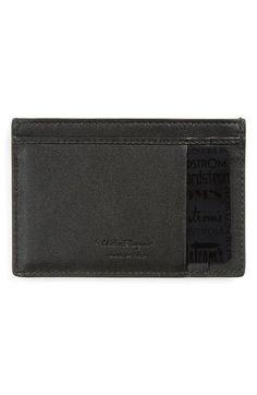 Salvatore Ferragamo 'Gancio' Leather Card Case available at #Nordstrom