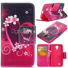 USD $ 7.99 - Plum Blossom Pattern with Card Bag Full Body Case for Samsung Galaxy S4 I9500