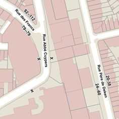 Etterbeek - Avenue de Tervueren 33 - D'OURS Franz Map, Location Map, Maps
