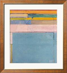 Evive Designs Ocean Park 1979 by Richard Diebenkorn Framed Painting Print