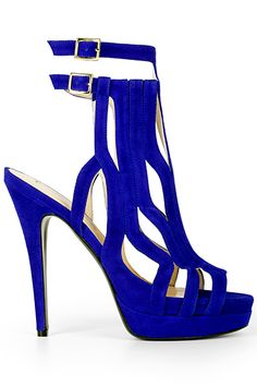 Burak Uyan Cobalt Blue High Heeled Sandal Fall Winter 2012 #Shoes #Heels