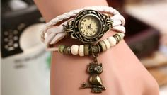 leather strap watch hot sell