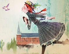Anne of Green Gables illustration by Kim, Ji-Hyuck(김지혁)(hanuol). Illustration Book, Book Illustrations, Anne Green, Anne Auf Green Gables, Anne With An E, Anne Shirley, Illustrators, Book Art, Fan Art
