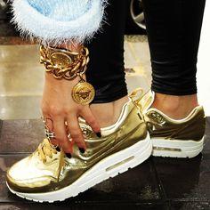 Liquid gold nike air max. I'd rock it just like this.
