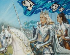 King of Doriath by ekukanova.deviantart.com on @deviantART. Thingol and Mablung. AWESOME!