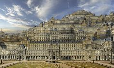 Louvre  www.rauzier-hyperphoto.com  Hyperphotos portfolios of the photographer Jean-Francois Rauzier, an imaginary world in which biggest and smallest get married in the heart of immense landscapes with unusual details
