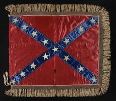 Confederate hand-sewn battle flag of General Lloyd Tilghman of Maryland and Kentucky (killed at Vicksburg), one of only four such flags known with a 15-star count/configuration, 37 inches by 39 inches (flag), offered for $325,000 by Jeff R. Bridgman American Antiques. Courtesy of Jeff R. Bridgman American Antiques; www.jeffbridgman.com.