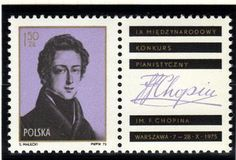 Postage Stamp - 1810-1849 Polish Composer and Virtuoso Pianist Frederic Chopin.