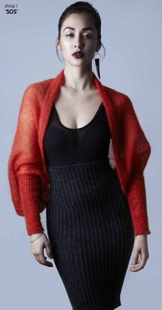 fashion:knits — essmei: Occasionally, I do stuff like this… Amy., fashion:knits — essmei: Occasionally, I do stuff like this… Amy. Knit Shrug, Knitted Cape, Beautiful Cocktail Dresses, Lace Bolero, Crochet Wool, Mohair Sweater, Drops Design, Knit Fashion, Black Crop Tops