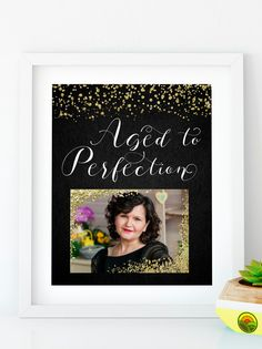 Items similar to Aged to Perfection Customized Birthday banner gold Birthday party Birthday decor HB on Etsy Happy Birthday Signs, Gold Birthday Party, 70th Birthday, Big Photo Frames, Baby Shower Purple, Letters For Kids, Diy Banner, Frame Template, Aged To Perfection