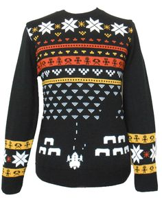 Retro Shooter Video Game Christmas Jumper (Unisex). Your Video Game answer to Christmas Sweaters!