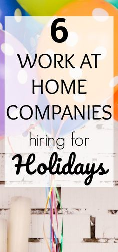 Looking for seasonal work at home jobs? Check out this list of work at home companies hiring for holidays. You can easily earn good extra income with these work at home jobs.