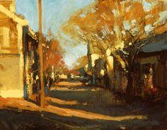 Michael J. Lynch (American, 1950-) > Nantucket shadows | 8x10, oil, plein air sketch